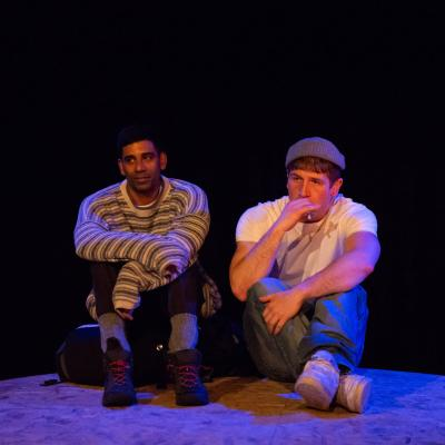 Darren Kuppan and Kyle Rowe in Under Three Moons