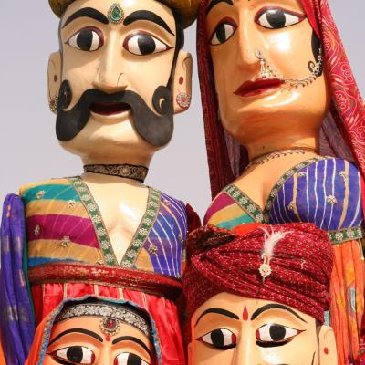 Marionette puppets in Indian costume