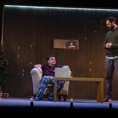 Daniel Watson and Micky Cochrane in Grounded - Christmas Crackers