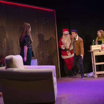 Katie Powell, Dale Jewitt, Daniel Watson & Sarah Balfour in Home For Christmas - Christmas Crackers