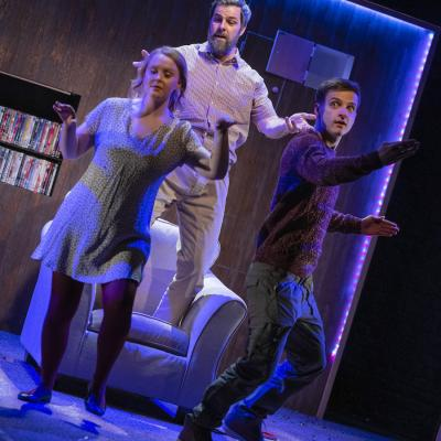 Sarah Balfour, Micky Cochrane and Dan Watson in Marbles - Christmas Crackers