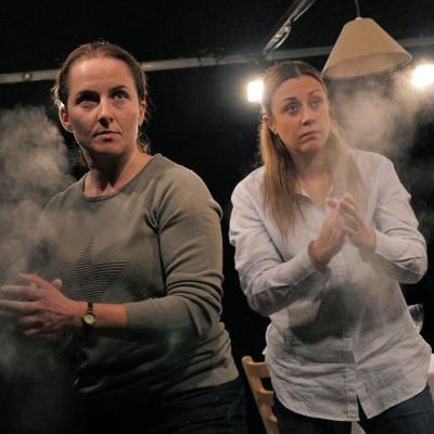 Eilidh Talman and Christina Berriman Dawson in Rattle Snake