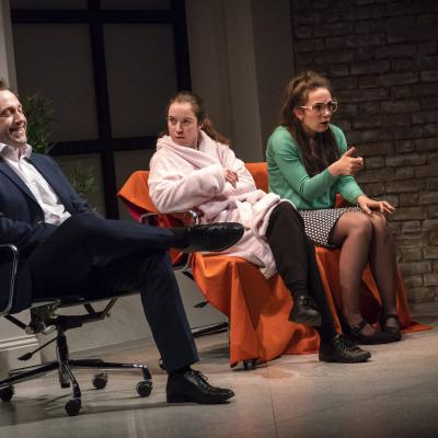 Brian Lonsdale, Amy McAllister and Bryony Corrigan in My Romantic History