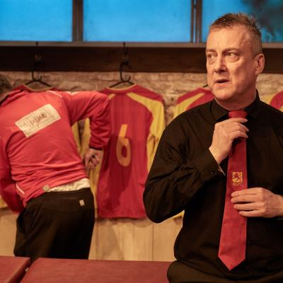 Stephen Tompkinson in The Red Lion play at Trafalgar Studios, London