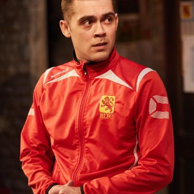 Dean Bone in The Red Lion play at Trafalgar Studios, London