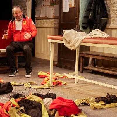 John Bowler in The Red Lion play at Trafalgar Studios, London