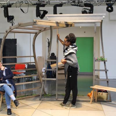 Shenagh Govan _ Evlyne Oyedokun, One Under rehearsals, photo Charlotte McCabe