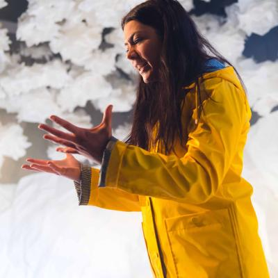 Heather Carroll in the play The Terminal Velocity Of Snowflakes at Live Theatre