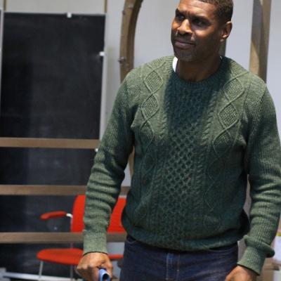 Stanley J Browne, One Under rehearsals, photo Charlotte McCabe