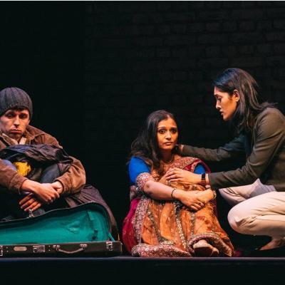 Jake Jarratt, Dixita Pandya & Ariya Larker in The Big Welcome