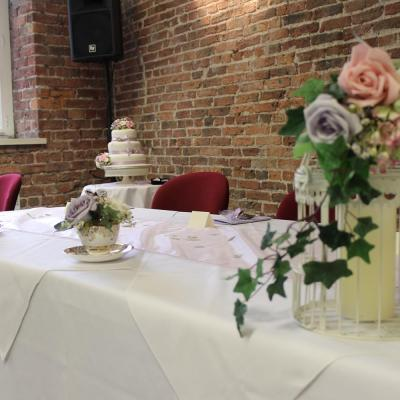 Table with decorations