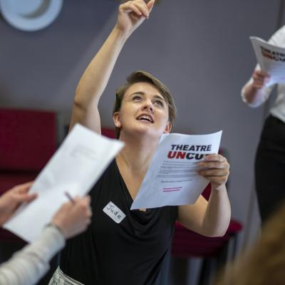 Theatre Uncut 2018 - The Power Plays - Rehearsal Image