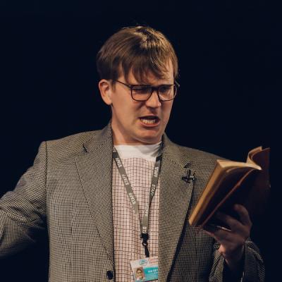 Mitch Donaldson in Blyth Spirit