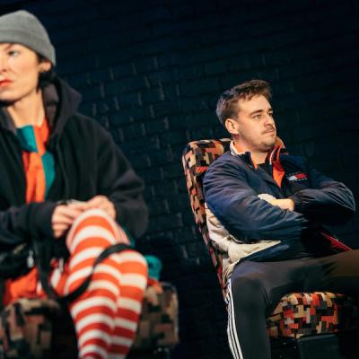 Jessica Johnson and James Gladdon in Skeltons in Cullercoats