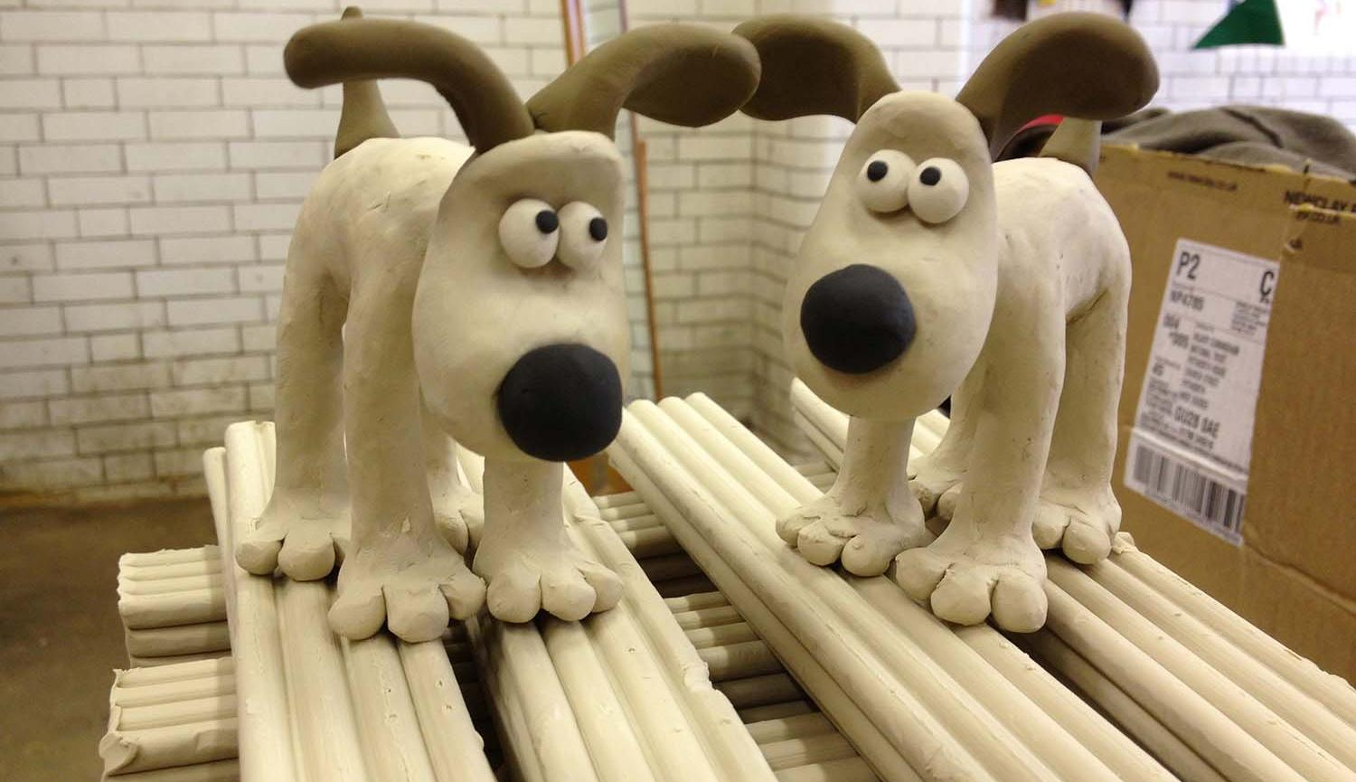 Aardman Animations Gromit and Feathers Clay Station Dropins at Live Theatre image of Gromit clay models
