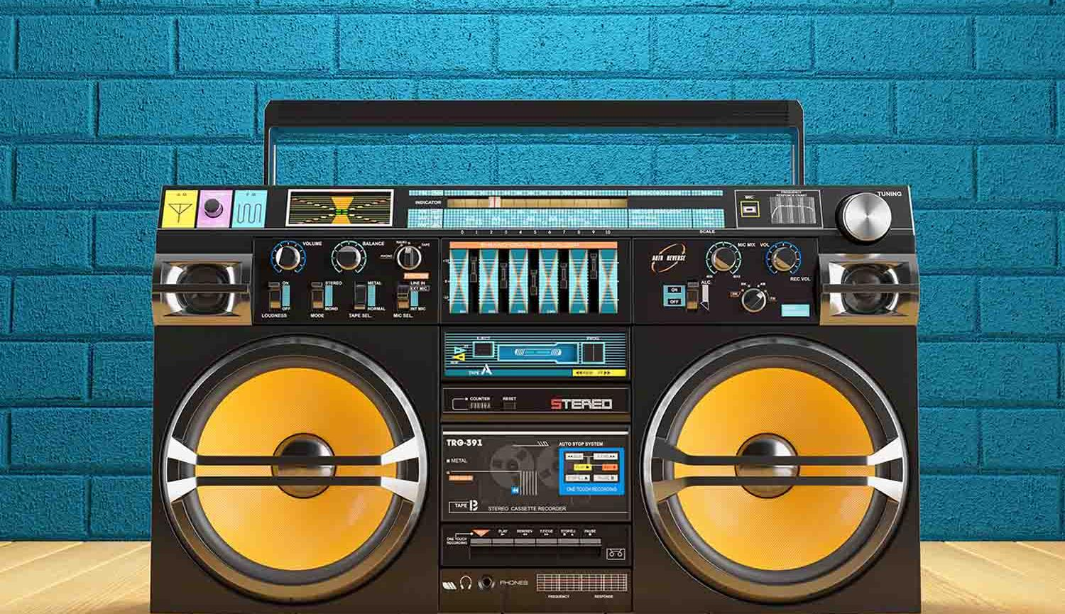 Mixtape Timebop image of ghetto blaster