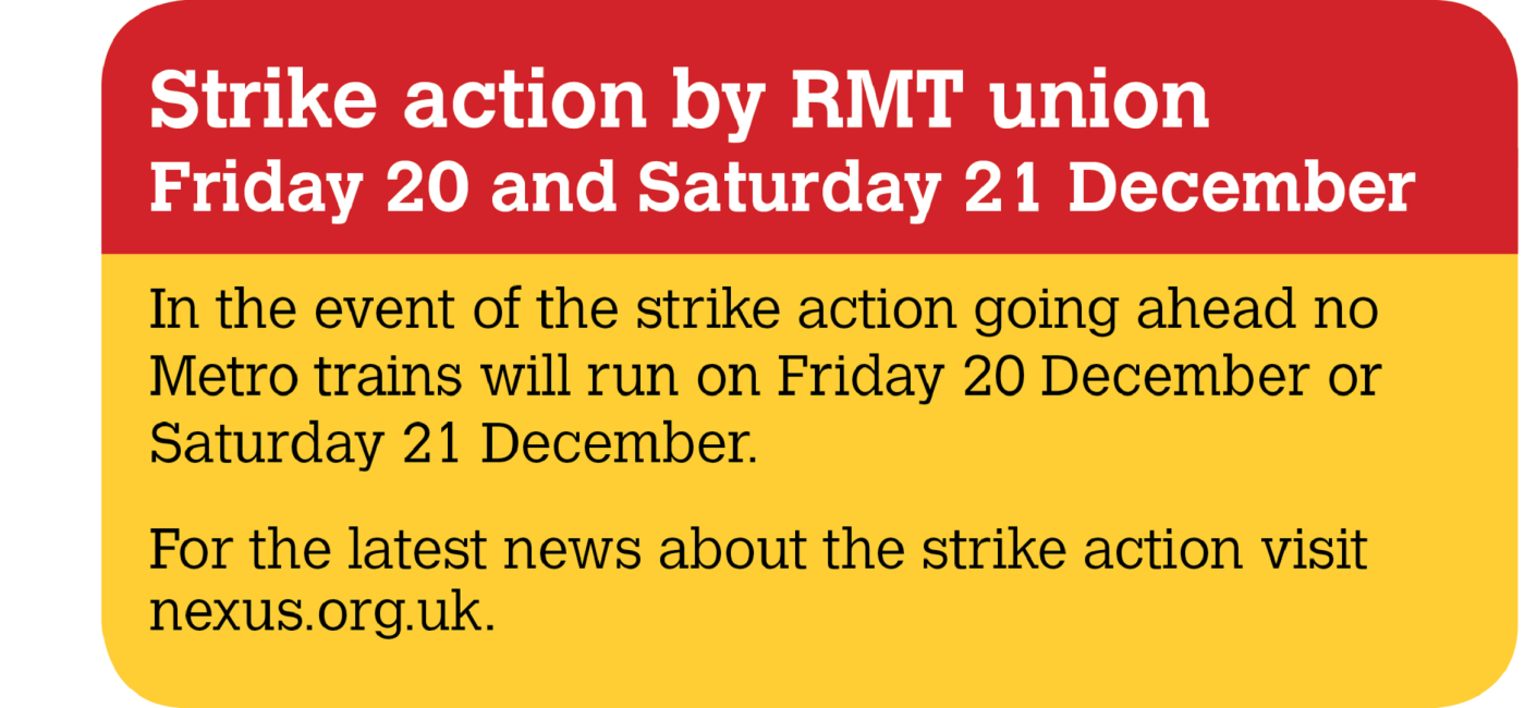 Strike action on metros notice