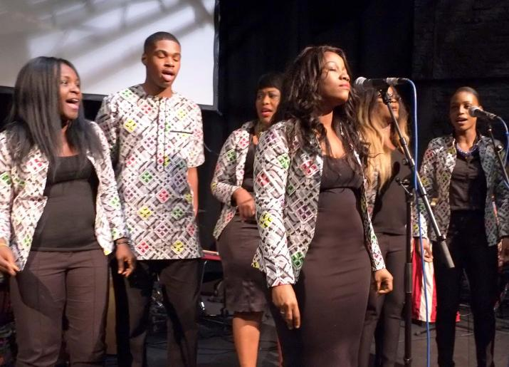 The Voices of Virtue Gospel Choir musicians