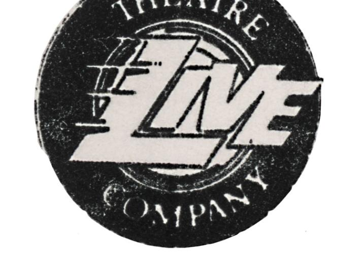 Picture of black and white Live Theatre logo